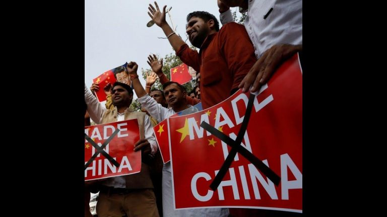 98.8 percent Indians favours boycott of chinese products in an online survey of CAIT
