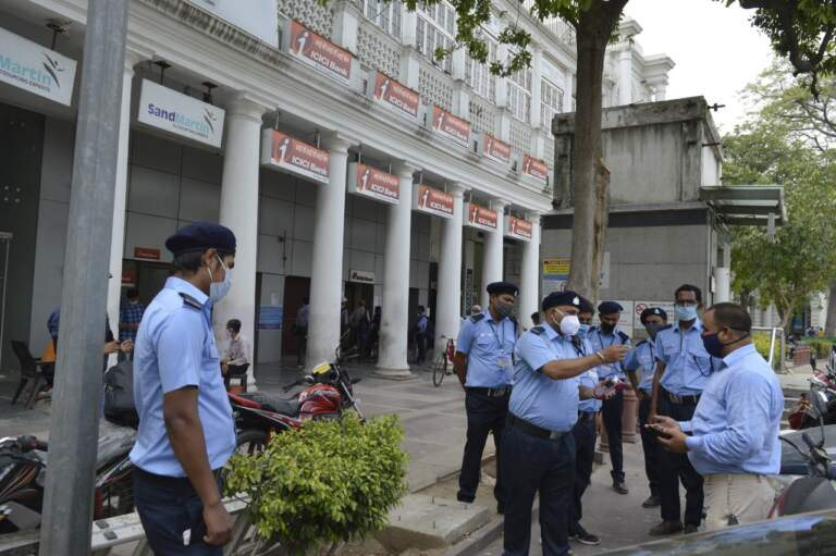 NDMC launches anti spitting drive by a special squad of civic wardens in Connaught Place area.