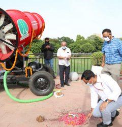 NDMC introduces'Anti Smog Gun' to reduce the pollution level