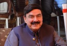 Pakistan Railway Minister Sheikh Rashid attack in London, people threw