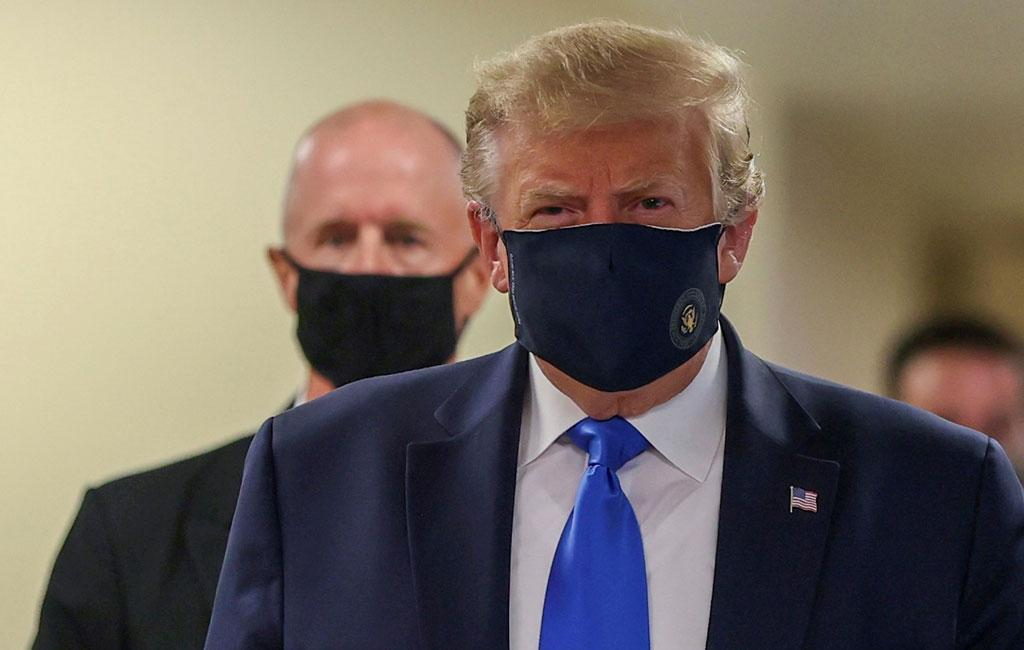 Coronavirus: US President Donald Trump seen wearing a mask