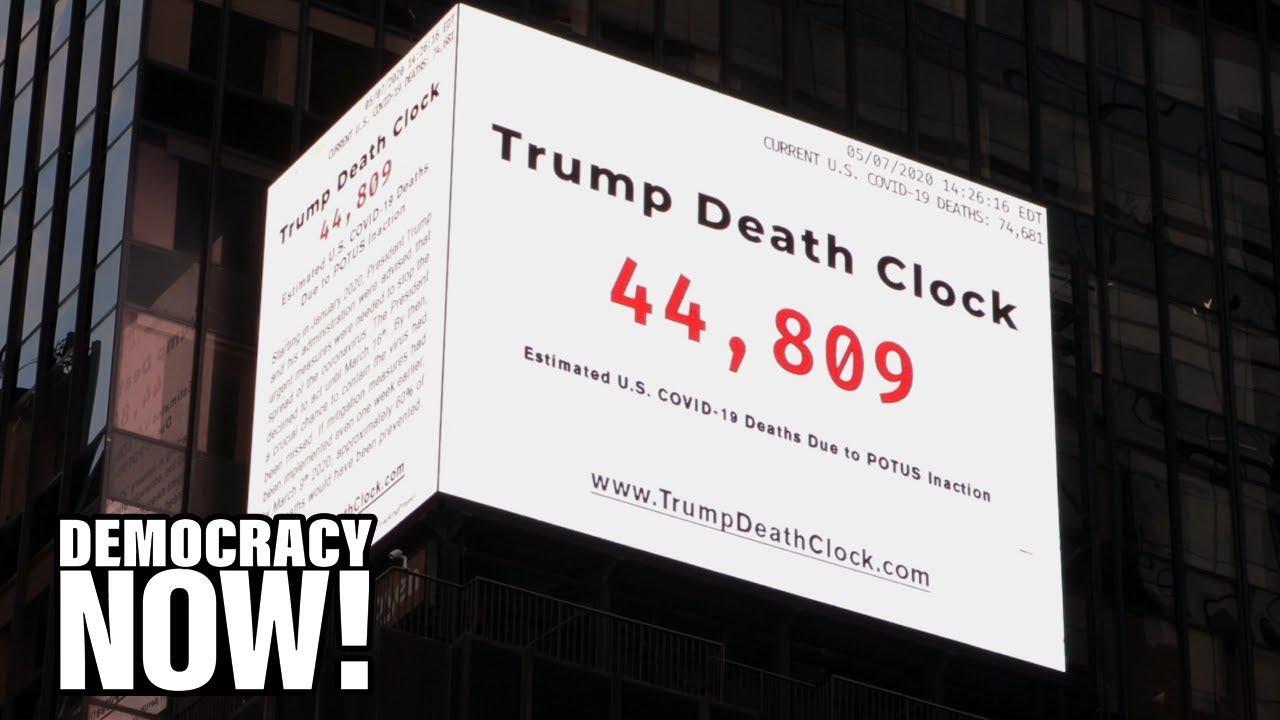 Trump Death clock Times square Eugene Jarecki