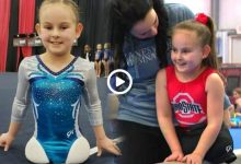 An 8-year-old American girl born without legs is now a world famous Gymnast