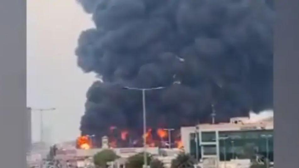 UAE Ajman market fire