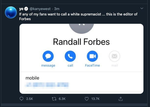 Twitter, Kanye West, Doxxing, Paige Leskin, Forbes deleted tweet, Kanye west leaked pics, Paige Leskin, Kanye West deleted tweet, Kanye West doxxing