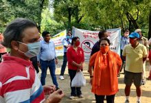 NDMC organises anti spitting cum anti without mask awareness and challaning Drive in Nehru Park at Chankyapuri.