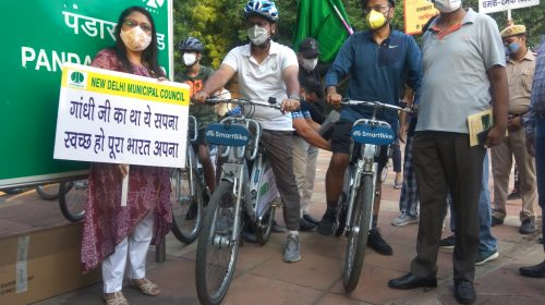 NDMC launches pilot project 'Cycle4Change' to promote cycling in New Delhi area