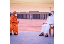 Sheikh Abdullah of the UAE inspected Hindu temple in Abu Dhabi