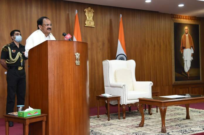 Vice President launches 'International Satavadhanam' event, a unique literary feat
