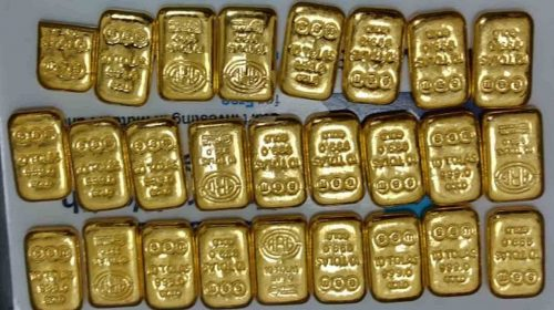 Smuggler arrested from Chennai airport, 1.85 kg gold recovered