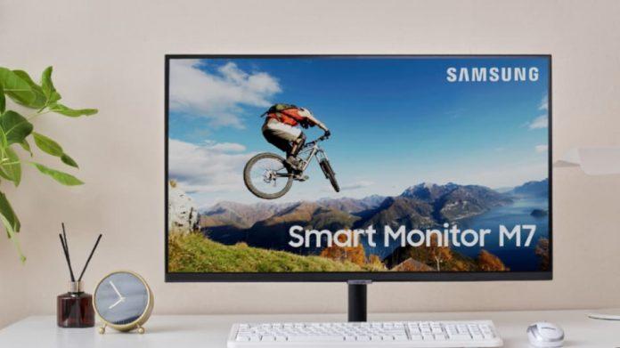 Samsung smart monitor M7, smart monitor M7 specs, smart monitor M7 display