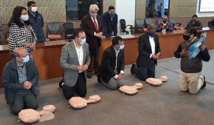 NDMC Organises Basic Life Support training Program for its ground-level staff.
