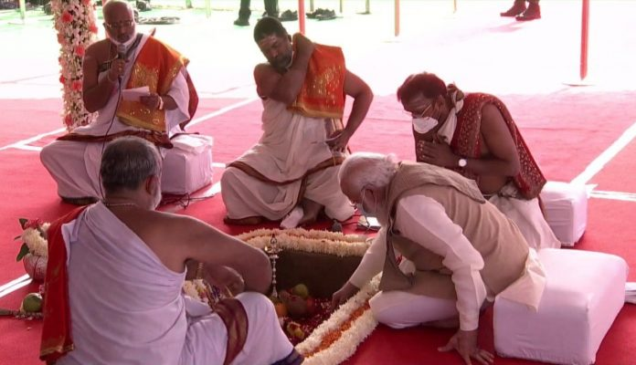 PM Modi laid the foundation stone and Bhoomi Pujan of the new Parliament House