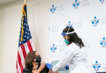 Kamala Harris took the Covid-19 vaccine