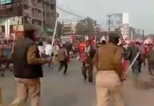 Bihar: Farmers take out Raj Bhavan march, Police niece sticks