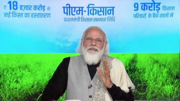 Modi interacts with 6 farmers, sent 18,000 crores to beneficiaries account