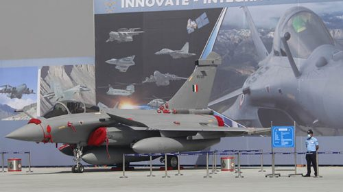 3 Rafale fighter jets landed at Indian Air Force Base from France