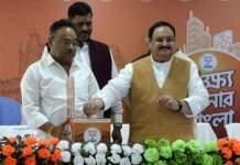 Nadda launches 'Lokho Sonar Bangla' campaign in Bengal