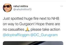 Gurgaon Fire doused after Rahul Mittra's tweet