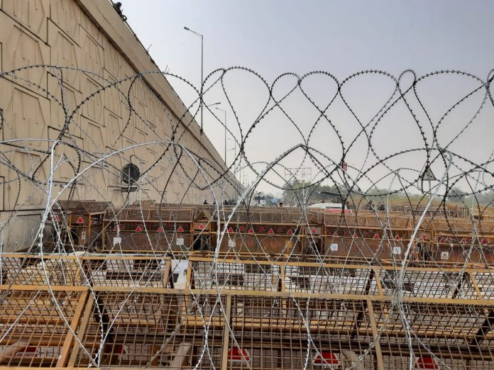 Delhi police resorted to concrete walls and barbed wire to stop farmers