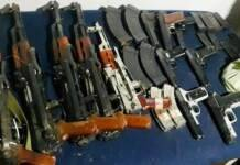 Kashmir: 5 AK rifles, 7 pistols recovered with LoC