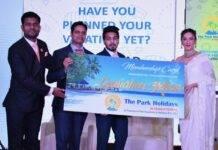 Gauhar Khan launches The Park Holidays International Mobile App