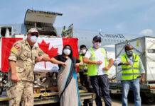 Flight carrying medical supplies from Canada lands in New Delhi