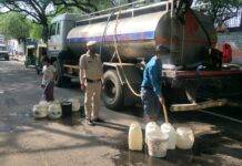Water supply in Vivekanand Camp in NDMC area.