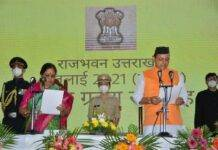 Uttarakhand: Pushkar Singh Dhami took oath as Chief Minister, Satpal and Harak again became ministers