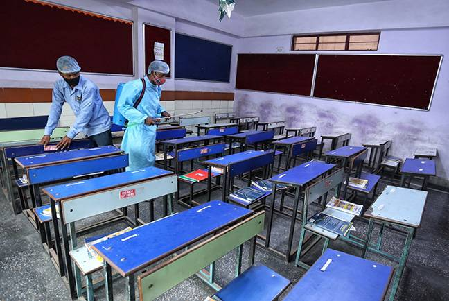 Delhi schools ready for students with sanitization, thermal scanners