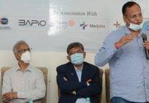Delhi Health Minister Satyendar Kumar Jain Inaugurated the first ICU Tele Medicine Centre of India in a field hospital at Ujala Cygnus Covid Center, Burari