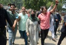 Mehbooba Mufti protest rally on the 2nd anniversary of abrogation of article 370
